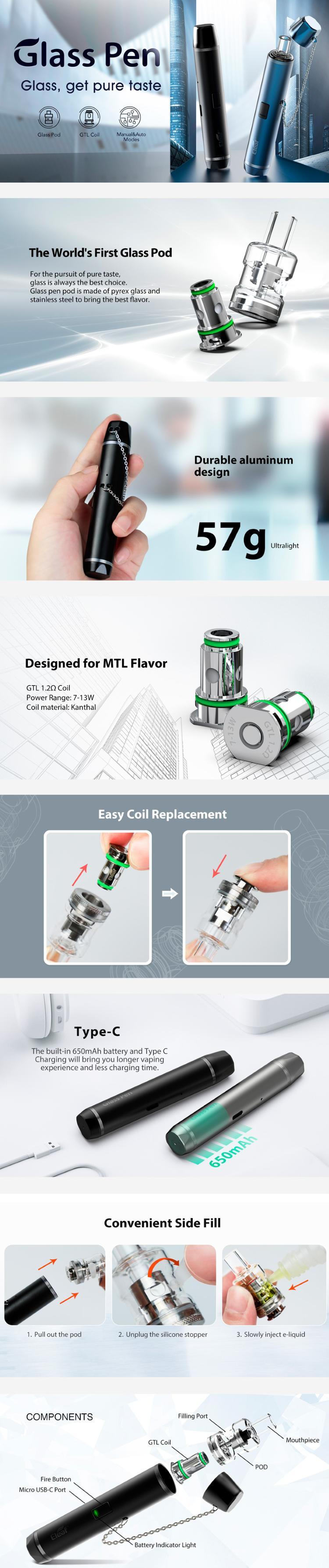Eleaf Glass Pen Pod Kit