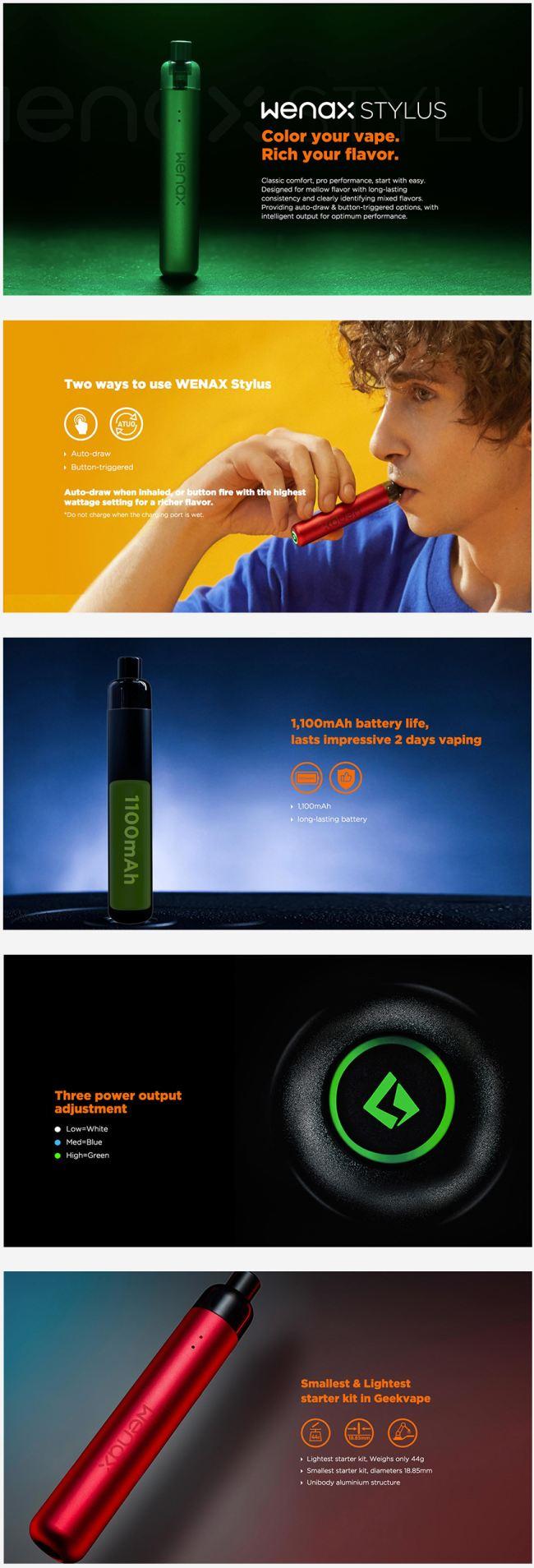GeekVape Wenax Stylus Pod Starter Kit