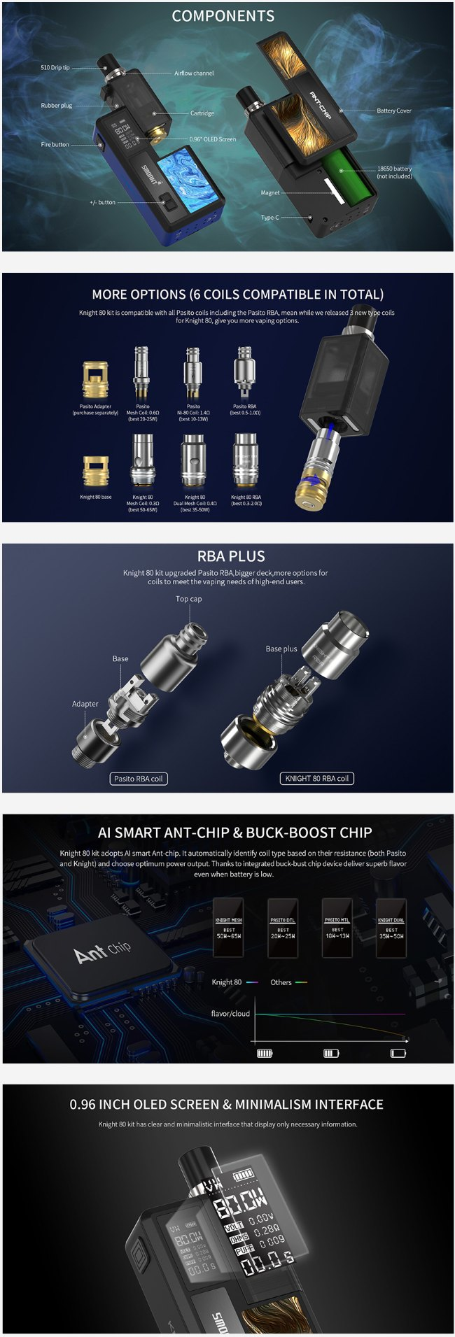 Smoant Knight TC Pod Kit