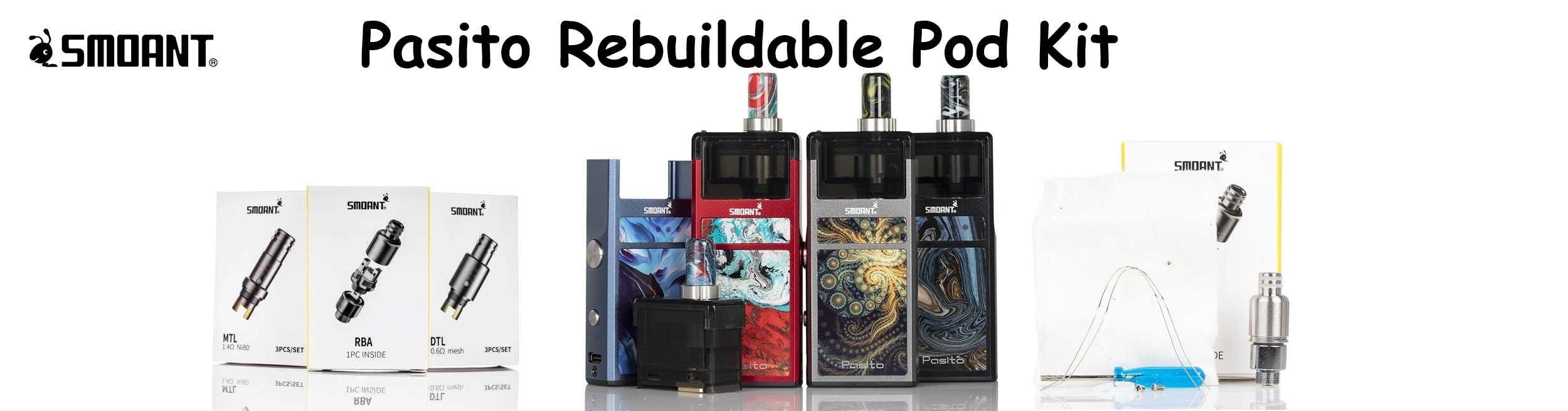 Smoant Pasito Rebuildable Pod Kit