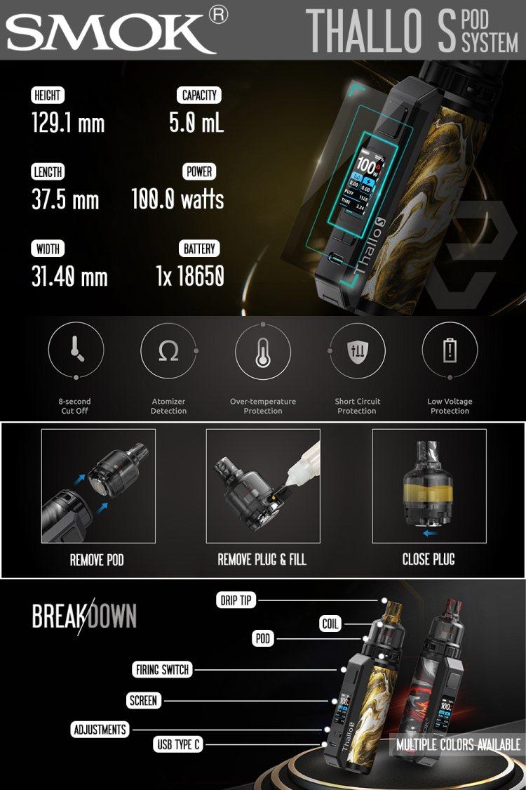 SMOK Thallo S Pod Mod Kit